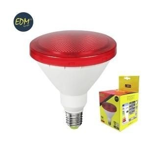 EDM led lamp PAR38 E27 15Watt rood