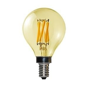 Gold led filament kogel E14 3Watt dimbaar