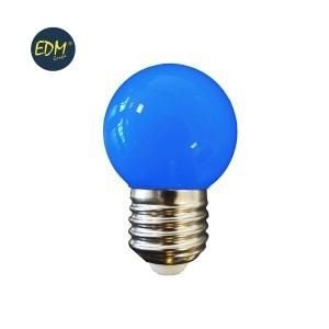 Led kogellamp EDM E27 1,5Watt blauw