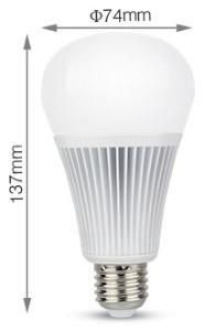 Mi-light rgb-cct led E27 GLS 9Watt RF 2.4G