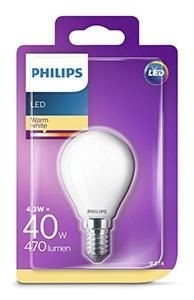 Philips led kogel E14 4,3Wattt mat Blister