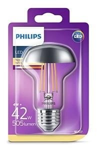 Philips led kopspiegel-reflector E27 4Watt R63 Blister