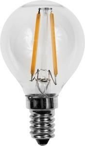 SPL led filament kogel E14 helder 1,5Watt dimbaar