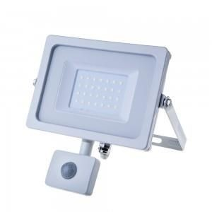 V-TAC led bouwlamp 30Watt 6400k IP44 met Sensor Body Wit