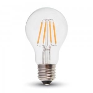 V-TAC led filament standaard E27 A60 2700K warm wit 6Watt