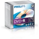 Philips DVD-R 4,7GB 16xspeed slim case 10 stuks