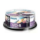 Philips DVD-R 4,7GB 16xspeed spindle 25 stuks