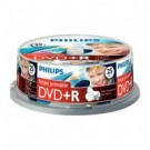 Philips DVD+R 4,7GB 16xspeed printable spindle 25 stuks