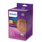 8718696575437 Philips led Globe G120 E27 7Watt Filament Gold