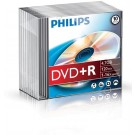Philips DVD+R 4,7GB 16xspeed slim case 10 stuks