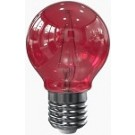Tronix led filament kogellamp E27 rood 2 watt